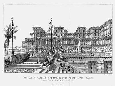 Reconstruction of the North-Eastern Façade of Sennacherib's Palace (Kouyunji), Assyrian, 1853--Giclee Print