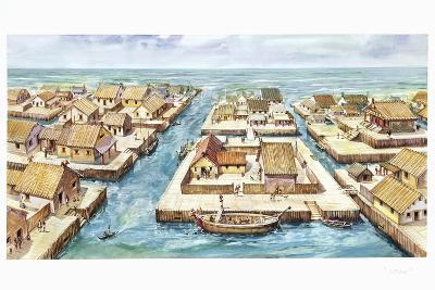 Reconstruction of the Port of Spina--Giclee Print