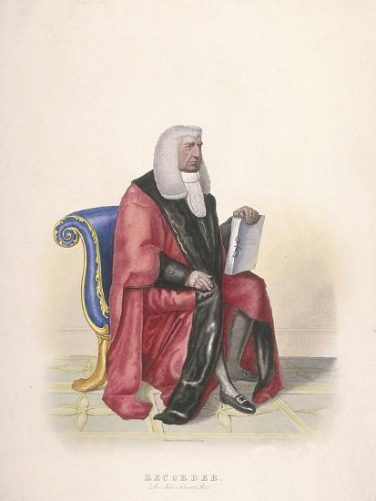 Recorder of the City of London, Sir John Silvester, in Civic Costume, 1825-Thomas Lord Busby-Giclee Print