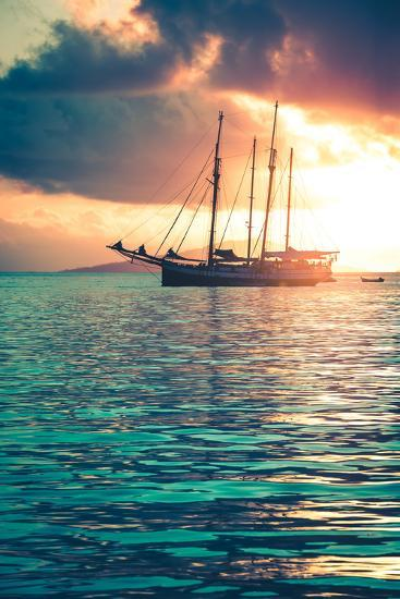 Recreational Yacht at the Indian Ocean-dvoevnore-Photographic Print
