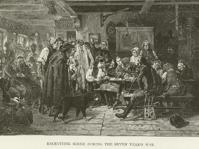 Recruiting Scene During the Seven Year's War--Giclee Print
