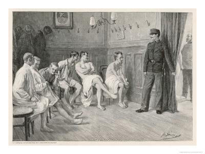 Recruits Await Their Medical Examination-Joseph Straka-Giclee Print