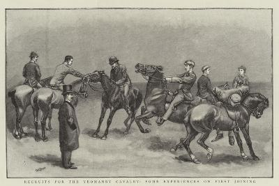 Recruits for the Yeomanry Cavalry, Some Experiences on First Joining--Giclee Print