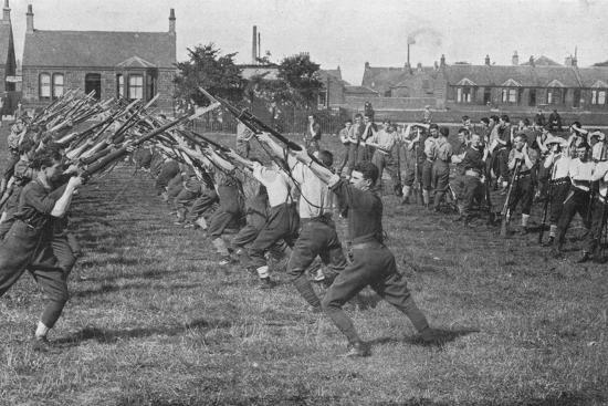 'Recruits learning the use of the bayonet', 1915-Unknown-Photographic Print