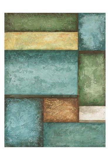 Rectangle Blue Velvet I-Kristin Emery-Art Print