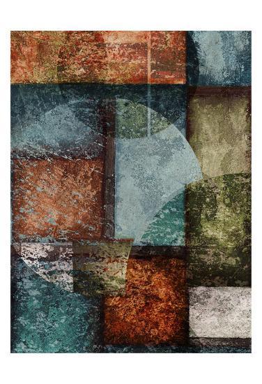 Rectangle Wcircles 6 Left-Kristin Emery-Art Print