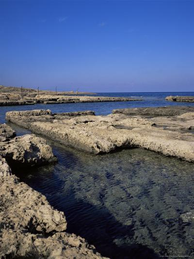 Rectangular Tanks Cut into Rock by Romans to Keep Fish Catch Fresh for Market, Near Lapta, Cyprus-Christopher Rennie-Photographic Print