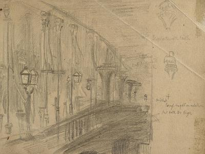 Recto: Study of London Bridge for 'London Bridge on the Night of the Marriage of the Prince and Pri-William Holman Hunt-Giclee Print