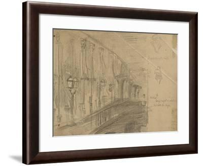 Recto: Study of London Bridge for 'London Bridge on the Night of the Marriage of the Prince and Pri-William Holman Hunt-Framed Giclee Print