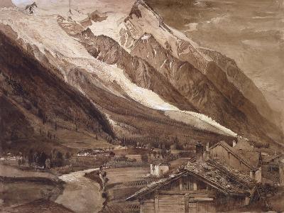 Recto: the Glacier Des Bossons-John Ruskin-Giclee Print
