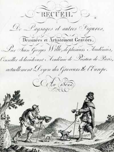 Recueil De Paysages Et Autres Figures, Dessinees Et Artistement Gravees by Johann Georg Wille, 1801--Giclee Print