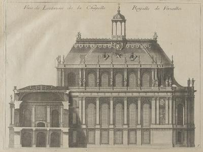 """Recueil des """"Plans, Profils et Elévations du Château de Versailles..."""" : planche 8 : vue de-Pierre Lepautre-Giclee Print"""