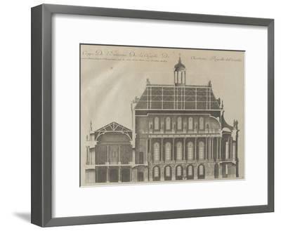 """Recueil des """"Plans, Profils et Elévations du Château de Versailles..."""" : planche 9 : coupe-Pierre Lepautre-Framed Giclee Print"""