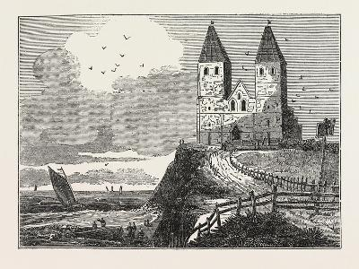 Reculver Church, from the Sea, UK--Giclee Print