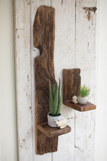 "Recycled Wood Wall Shelf - 9""--Alternative Wall Decor"