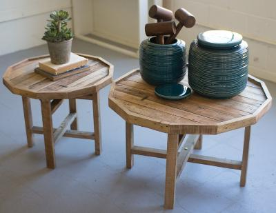 Recycled Wooden Table Pair--Home Accessories