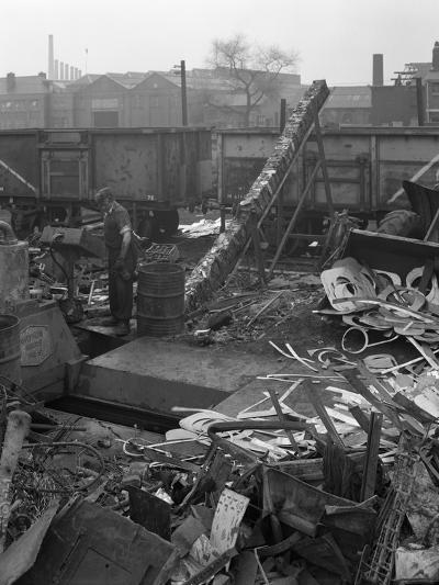 Recycling Scrap, Rotherham, South Yorkshire, 1965-Michael Walters-Photographic Print