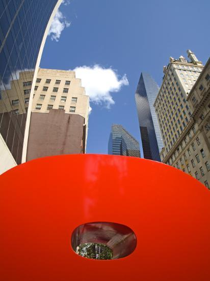 Red 9 Sculpture, Nine West 57th Street, Midtown Manhattan-Richard Cummins-Photographic Print