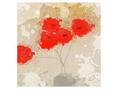 Red Abstract Bunch II-Irena Orlov-Art Print
