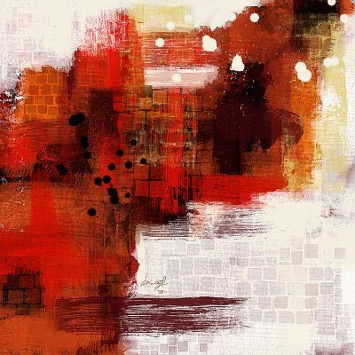 Red Abstract II--Art Print