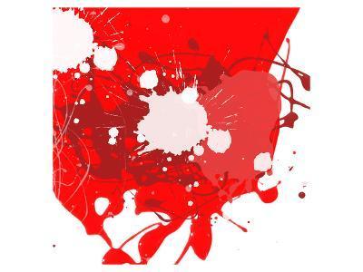 Red Abstract-Irena Orlov-Art Print