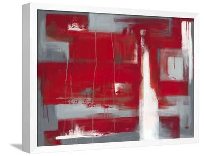 Red Abstract-Leigh Banks-Framed Canvas Print