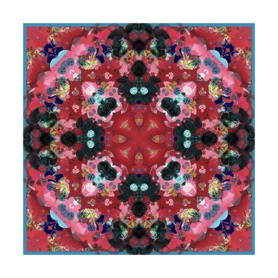 Red and Black Blossom Mandala-Alaya Gadeh-Art Print