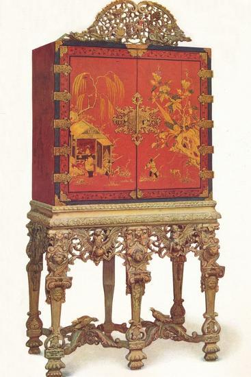 'Red and Gold Lacquer Cabinet', c1695, (1936)-Unknown-Photographic Print