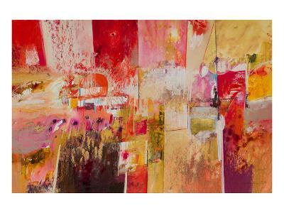 Red And Gold Leaf 4--Art Print