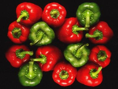 Red And Green Peppers-Victor De Schwanberg-Photographic Print