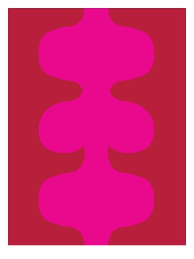 Red and Pink Design, no. 115-Avalisa-Art Print