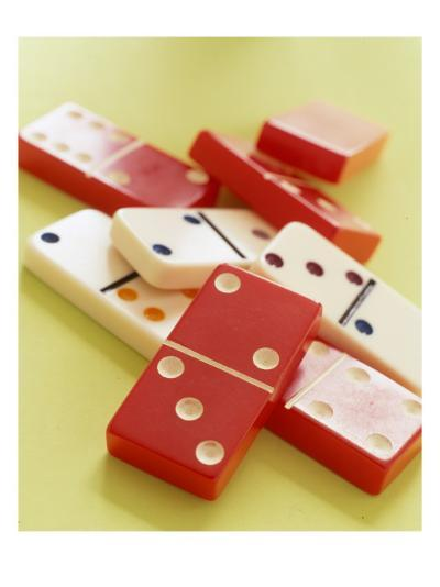 Red and White Dominoes--Photo