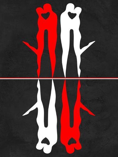 Red and White Kiss Reflection-Felix Podgurski-Art Print