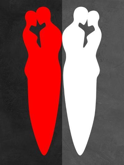 Red and White Kiss-Felix Podgurski-Art Print