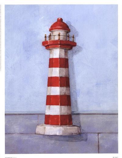 Red And White Light-Simon Parr-Art Print