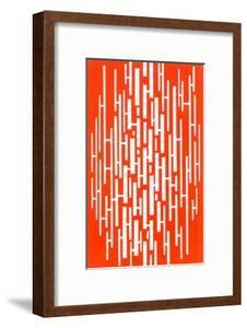 Red and White Random Vertical Stripes