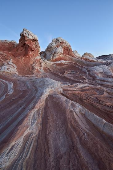 Red and White Sandstone Formations-James Hager-Photographic Print