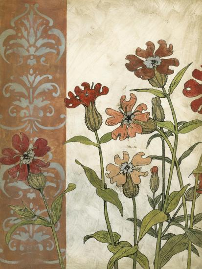 Red Antique Floral II-Megan Meagher-Premium Giclee Print