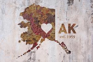 AK Rusty Cementwall Heart by Red Atlas Designs