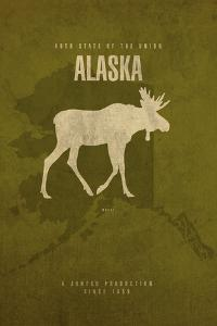 AK State Minimalist Posters by Red Atlas Designs