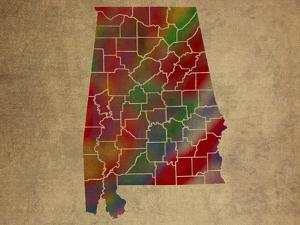 AL Colorful Counties by Red Atlas Designs