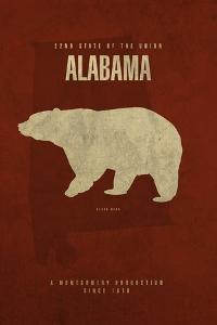AL State Minimalist Posters by Red Atlas Designs