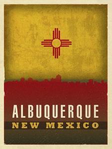 Alburquerque City Flag by Red Atlas Designs