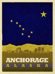 Anchorage Flag by Red Atlas Designs
