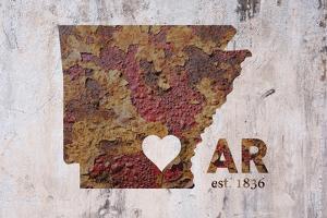 AR Rusty Cementwall Heart by Red Atlas Designs
