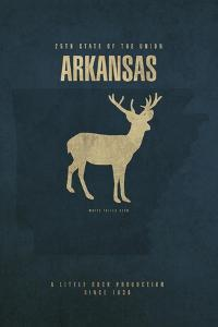 AR State Minimalist Posters by Red Atlas Designs