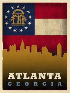 Atlanta Flag by Red Atlas Designs
