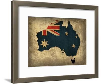 Australia Country Flag Map