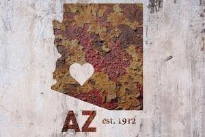 AZ Rusty Cementwall Heart by Red Atlas Designs