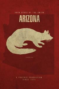AZ State Minimalist Posters by Red Atlas Designs